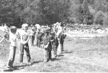 Scouts at camp, May 15.