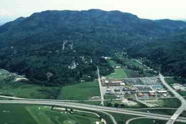 Bird's-eye view of Cougar Mountain, ca 1970s or 1980s, from the vicinity of *-90 and 17th Ave NW (ref ID 467.2.24)