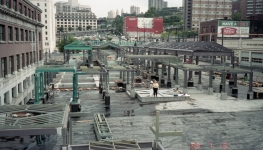 International District Station construction (Jul 13, 1989)