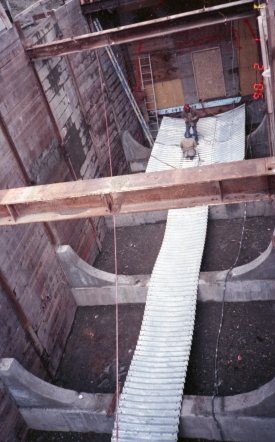 University Street Station construction (Feb 1, 1990)
