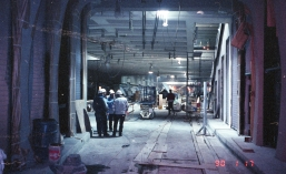 University Street Station construction (Jan 17, 1990)