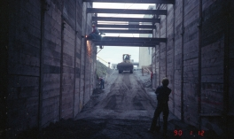 University Street Station construction (Jan 12, 1990)