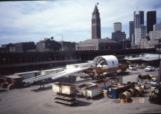 Tunnel boring machine near King Street Station (May 10, 1987) - Vic Oblas