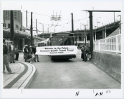 First day of tunnel operations: first bus through (Sep 15, 1990) - Ned Ahrens