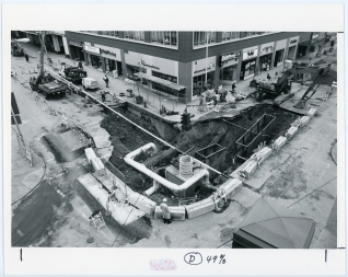 Sinkhole, 6th Ave (Mar 1987)
