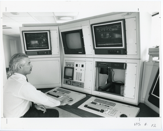 Control room for the tunnel